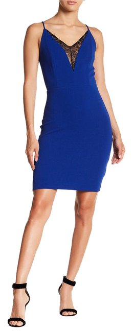 Preload https://img-static.tradesy.com/item/21817209/soprano-new-cobalt-blue-lace-front-cami-bodycon-short-night-out-dress-size-12-l-0-3-650-650.jpg