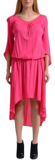 Preload https://img-static.tradesy.com/item/21817229/versace-collection-pink-34-sleeves-women-s-asymmetrical-hem-short-casual-dress-size-4-s-0-1-650-650.jpg