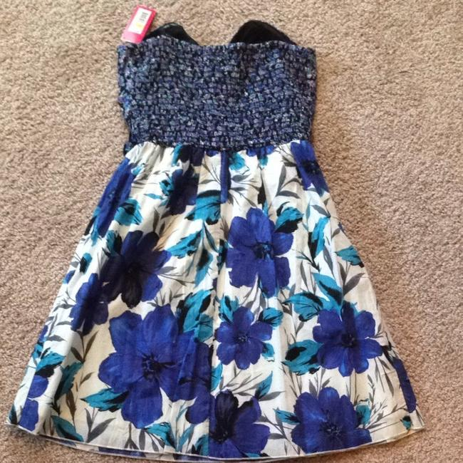 Xhilaration short dress Blue and Purple Floral on Tradesy