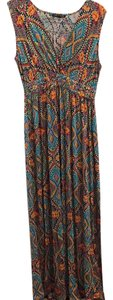 multi Maxi Dress by Cable & Gauge Pet And Smoke Free Spandex Empire