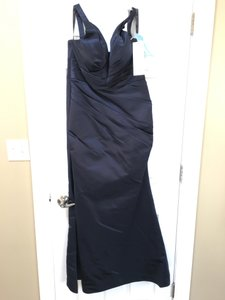 Bill Levkoff Euro Navy 526 Bridesmaid/Mob Dress Size 24 (Plus 2x)