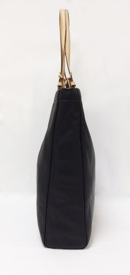 MICHAEL Michael Kors Jet Set North South Leather Tote in Black Image 2