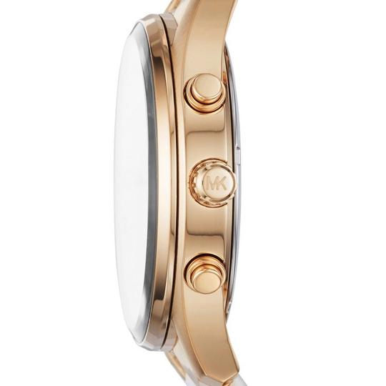 Michael Kors Michael Kors Briar Gold-Tone and White Silicone Watch MK6466 Image 1