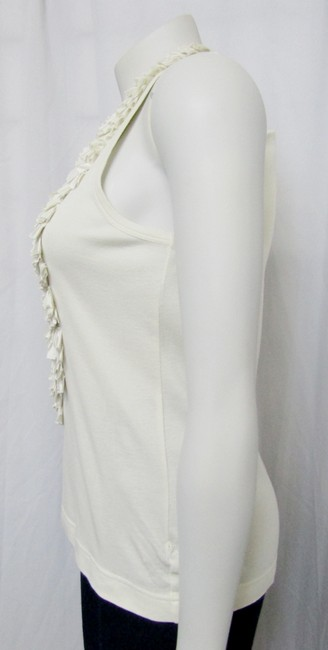 Givenchy Ruffled Cotton Sleeveless Top ivory Image 3