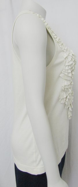Givenchy Ruffled Cotton Sleeveless Top ivory Image 4