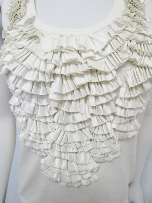 Givenchy Ruffled Cotton Sleeveless Top ivory Image 5