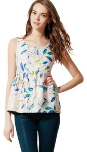 Anthropologie Brocade Peplum Top White, Gold, Yellow, Blue, Green, Pink