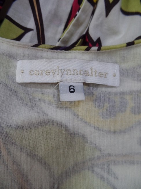 Corey Lynn Calter short dress Multicolored Retro Lined Empire Waist Fitted on Tradesy Image 4