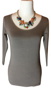 Other Sweater Blouse 3/4 Sleeve T Shirt Taupe