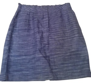 J.Crew Ruffle Strie' Skirt Blue