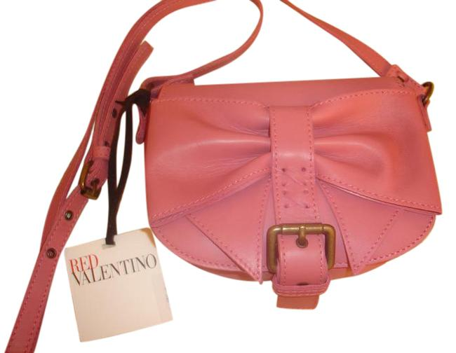 RED Valentino Pink Leather Cross Body Bag RED Valentino Pink Leather Cross Body Bag Image 1
