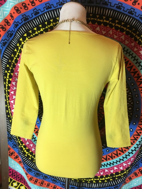 Other Blouse 3/4 Sleeve T Shirt Yellow Image 1
