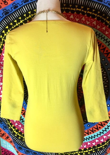 Other Blouse 3/4 Sleeve T Shirt Yellow Image 2