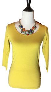 Other Blouse 3/4 Sleeve T Shirt Yellow