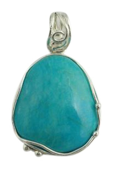 Preload https://img-static.tradesy.com/item/21818169/turquoise-natural-cut-pendant-sterling-silver-necklace-0-1-540-540.jpg