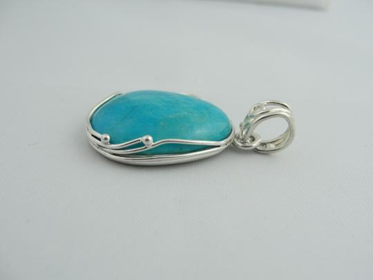Other Natural Cut Turquoise Pendant- Sterling Silver Image 2