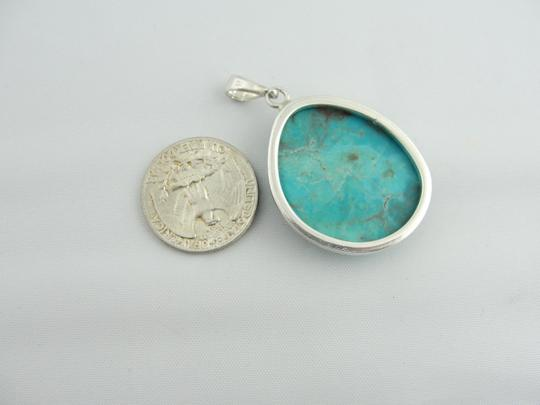 Other Natural Cut Turquoise Pendant- Sterling Silver Image 5