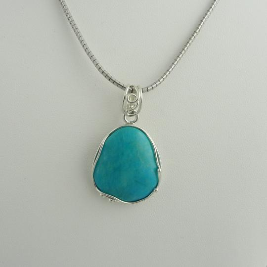 Other Natural Cut Turquoise Pendant- Sterling Silver Image 6