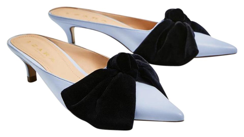 Zara Light Formal Blue Kitten Heels Pump Formal Light Shoes 164c19