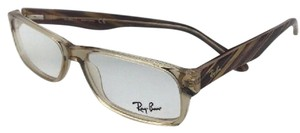 Ray-Ban RAY-BAN Rx-able Eyeglasses RB 5203 2466 55-16 145 Brown Transparent