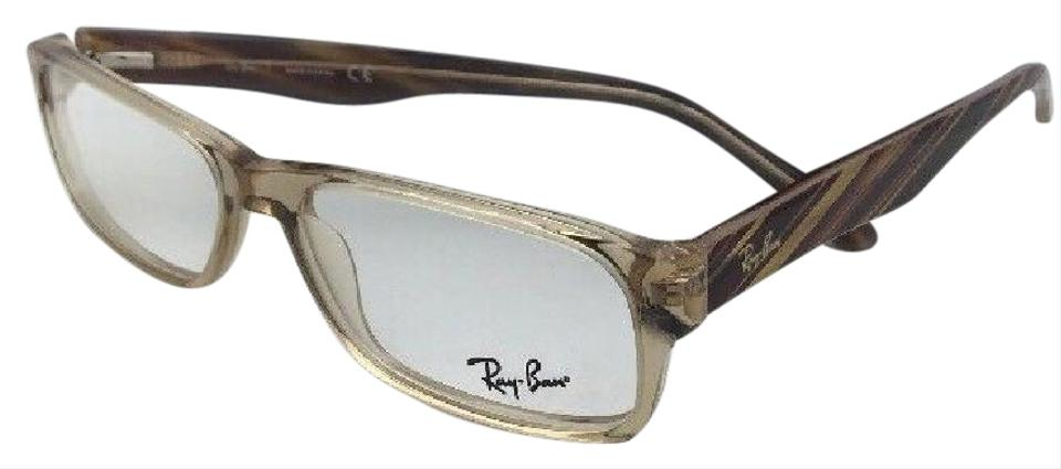 d65fe70ed8 Ray-Ban New Rx-able Rb 5203 2466 55-16 145 Brown Transparent Frames ...