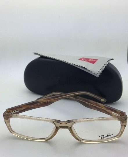 Ray-Ban RAY-BAN Rx-able Eyeglasses RB 5203 2466 55-16 145 Brown Transparent Image 10
