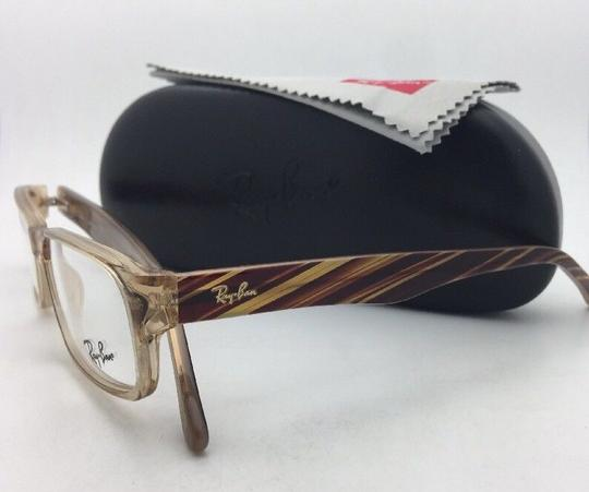 Ray-Ban RAY-BAN Rx-able Eyeglasses RB 5203 2466 55-16 145 Brown Transparent Image 2