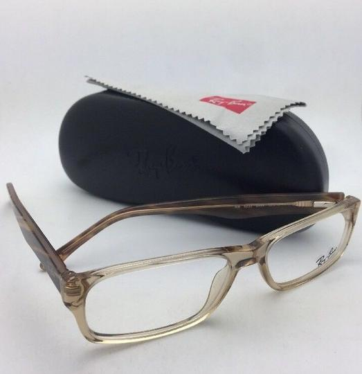Ray-Ban RAY-BAN Rx-able Eyeglasses RB 5203 2466 55-16 145 Brown Transparent Image 3