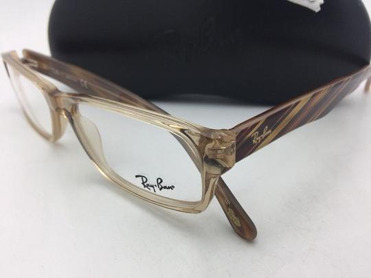 Ray-Ban RAY-BAN Rx-able Eyeglasses RB 5203 2466 55-16 145 Brown Transparent Image 4