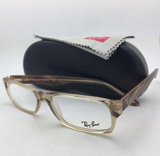Ray-Ban RAY-BAN Rx-able Eyeglasses RB 5203 2466 55-16 145 Brown Transparent Image 5