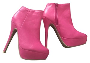 Amiclubwear Hot Pink Boots