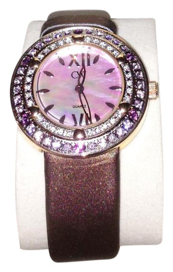 Preload https://img-static.tradesy.com/item/21818313/charles-winston-brown-pink-crystal-mother-of-pearl-satin-strap-watch-0-2-540-540.jpg