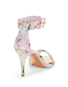 b171406d5d4f3a Added to Shopping Bag. Ted Baker Ankle Strap Stiletto Rose Gold Floral  Formal
