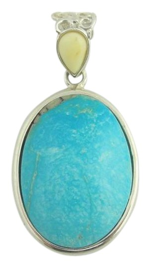 Preload https://img-static.tradesy.com/item/21818437/natural-oval-turquoise-drop-pendant-sterling-silver-necklace-0-1-540-540.jpg