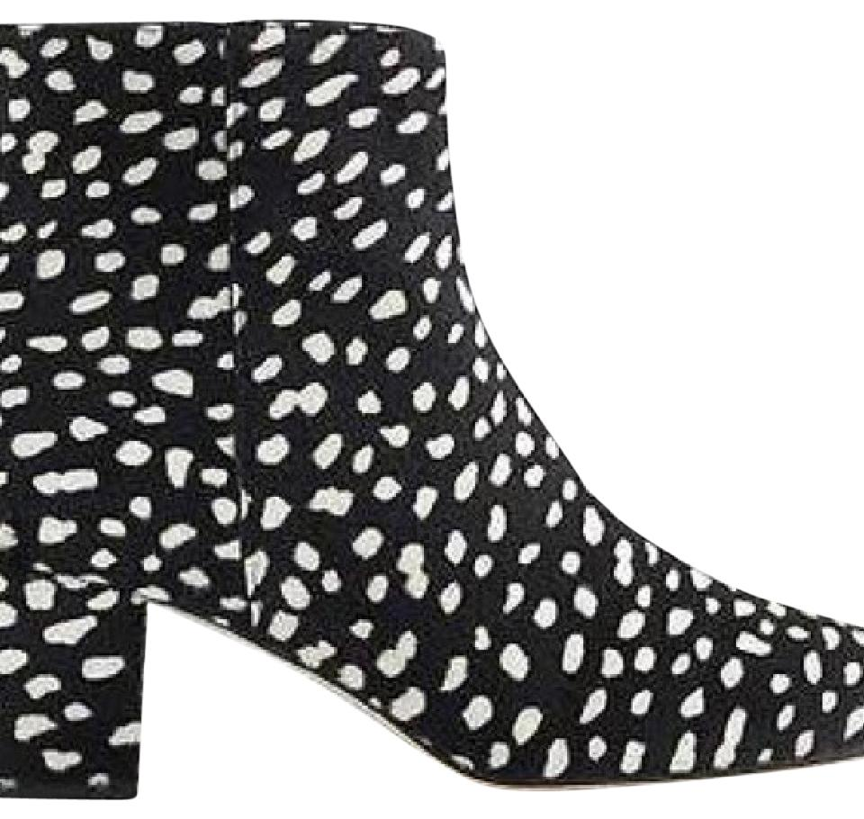 J.Crew Black and White Collection Zip Boots/Booties Ankle Leopard Calf Hair Boots/Booties Zip da2796