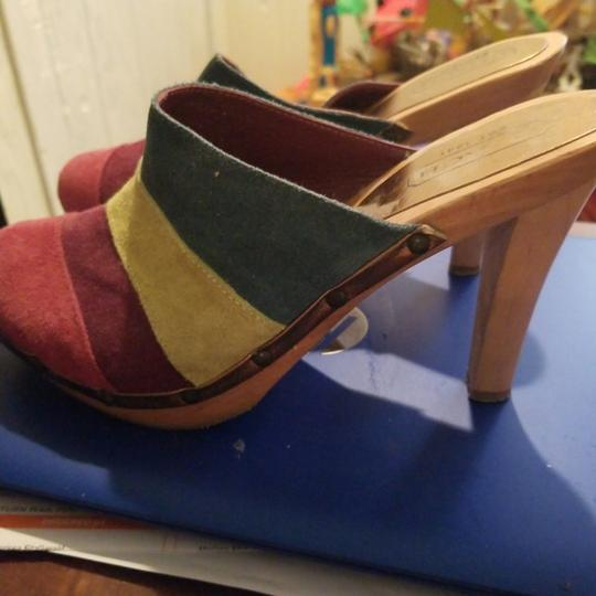 Coach Turquoise,lime,purple,dark pink Mules Image 3