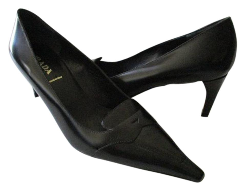89b0978b13eb Prada Black Squared Pointed Toe Pumps Size US 8.5 Regular (M