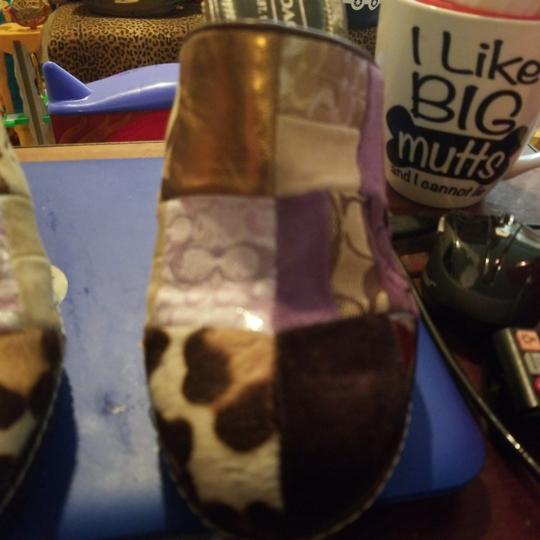 Coach Patchwork in suede,pony fur and leather Mules Image 3