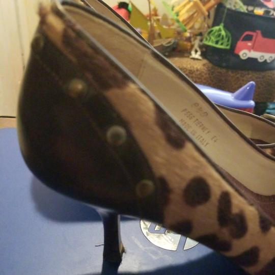 Coach Brown leather & pony spotted fur Pumps Image 3
