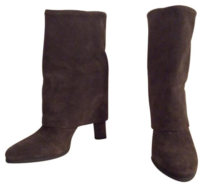 Item - Taupe Suede Foldover Boots/Booties Size EU 41 (Approx. US 11) Regular (M, B)