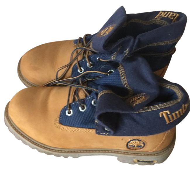 Item - Natural with Blue Trim Youth's Rll Tp Thrml Boots/Booties Size US 5.5 Regular (M, B)