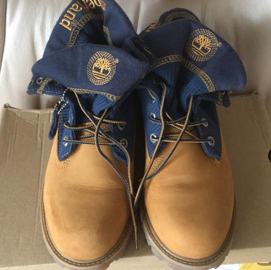 Timberland natural with blue trim Boots Image 1