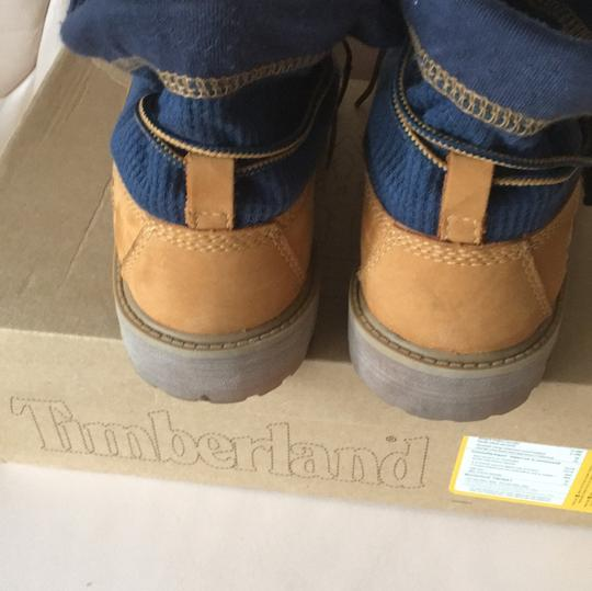 Timberland natural with blue trim Boots Image 2