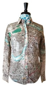 Paul Smith Unique London Button Down Shirt Map Print