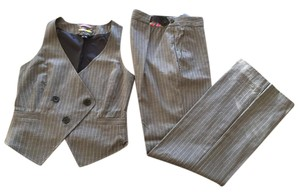 Paul Smith Paul Smith Black Label Gray Pinstripe Pants and Vest Suit, Size 40