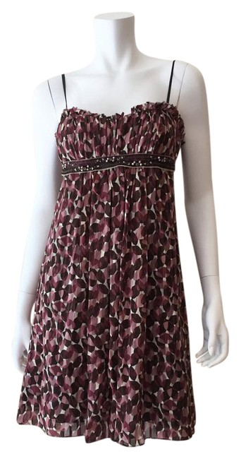 Preload https://img-static.tradesy.com/item/21819092/bcbgmaxazria-mauve-woven-silk-short-casual-dress-size-0-xs-0-1-650-650.jpg
