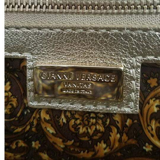Versace Barocco Altea Vanitas Embroidered Satchel in Gold Image 3