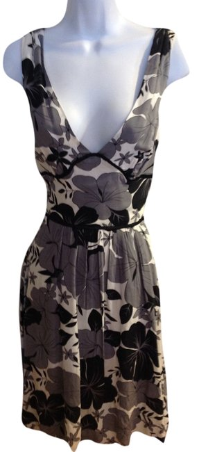 Preload https://img-static.tradesy.com/item/21819331/aryeh-black-grey-white-floral-summer-mid-length-short-casual-dress-size-6-s-0-1-650-650.jpg