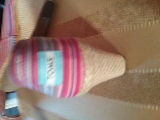 TOMS Logo Tom Ford Multi Striped Pink and Blue Wedges Image 4