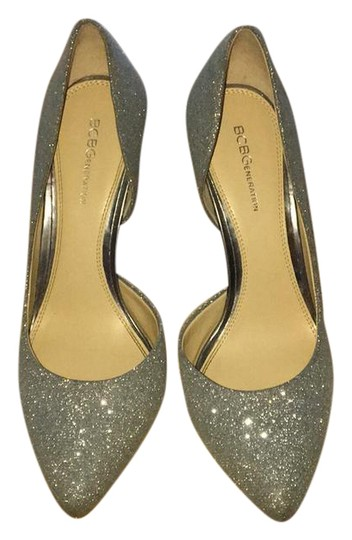 BCBGeneration Silver Glitter Formal Image 0
